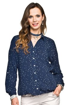 Pohodlná těhotenská halenka se zapínáním na knoflíky Buttons, Blouse, Long Sleeve, Sleeves, Tops, Women, Fashion, Moda, Long Dress Patterns