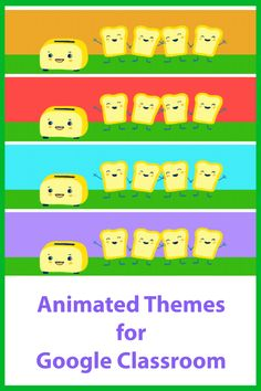 Decorate your Google Classroom with some fun animated gifs Online Classroom, Classroom Decor, Free Education, Google Classroom, Educational Technology, Headers, Some Fun, Gifs, Animation