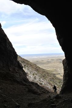 """We used to hike up to these caves at Tom Mays Memorial Park, El Paso, TX. There are two caves side by side and we called them """"La Nariz""""."""
