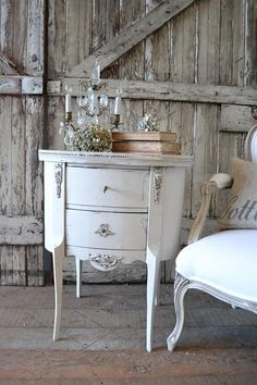 Antique French Side Table from Full Bloom Cottage