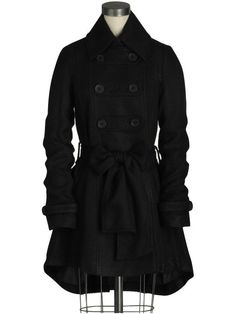 I love coats that have skirt-like bottoms.... military gothic love