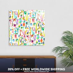 Discover «Lush garden», Limited Edition Aluminum Print by Ninola - From 95€ - Curioos