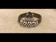 Make a SuperDuo Knit Herringbone Bracelet - YouTube