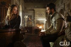 """Reign -- """"Uncharted Waters """" -- Image Number: RE408a_0213.jpg -- Pictured (L-R): Rose Williams as Princess Claude and Steve Lund as Luc -- Photo: Ben Mark Holzberg/The CW -- © 2017 The CW Network, LLC. All Rights Reserved"""