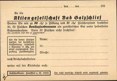 Bestellkarte  für Bonifatiusbrunnen 1930er Jahre Rückseite