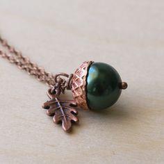 Handmade Gifts | Independent Design | Vintage Goods Little Acorn Necklace - Jewelry - Girls
