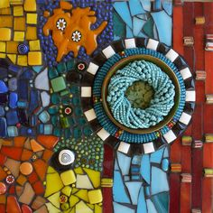 Mosaic squares/collection/artcollaction/african elements/glassfusion/beads/ceramic