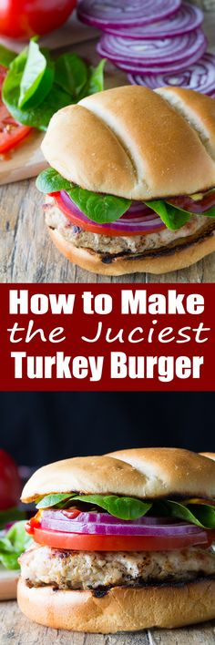Making a juicy turkey burger is easy. It just takes a few secrets to get the perfect juicy turkey burger.