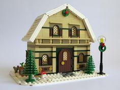 Winter Village Barn House by Kristel.