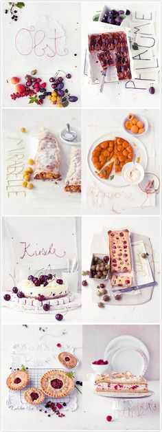 Beautifully styled fruit cakes by Dietlind Wolf, and photographed by Wolfgang Schardt for Living at Home