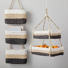 Tricolor Hanging Baskets | west elm