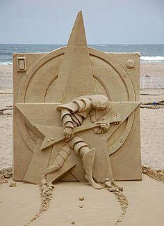Photos from the 2009 Hampton Beach Master Sand Sculpting Competition Snow Sculptures, Sculpture Art, Star Sand, Ice Art, Snow Art, Grain Of Sand, Land Art, Art Festival, Oeuvre D'art