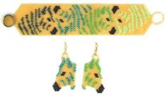 Savannah Gold Zebra Reflections Bracelet Pattern from Bead Art by Ronit at Bead-Patterns.com