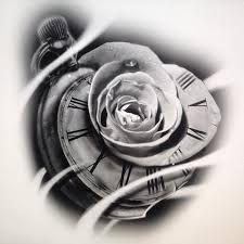 Bildergebnis für tattoo sketch clock