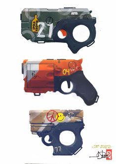 Reluctant guns by LEGOLIZE IT MAN #Fracasodelosjuegos Arte Sci Fi, Sci Fi Art, Robot Concept Art, Weapon Concept Art, Sci Fi Weapons, Fantasy Weapons, Arte Cyberpunk, Future Weapons, Gun Art
