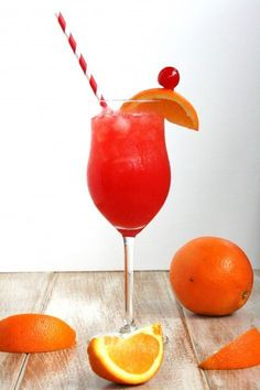 Hurricane | 2 oz grenadine 1 ½ oz light (silver) rum 1 ½ oz dark (gold) rum 1 ½ oz orange juice 1 ½ oz pineapple juice ½ oz triple sec ½ oz lime juice | Combine ingredients in a cocktail shaker or glass with ice and shake or stir well. In a tall glass, fill with crushed ice and pour drink over ice. Garnish with an orange and a maraschino cherry.