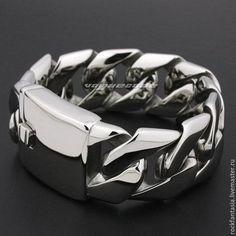 Handmade bracelets. Fair Masters - handmade. Buy Massive men bracelet jewelry steel 316L. Handmade.