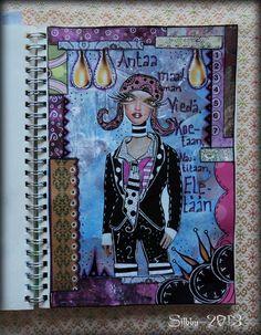 """Art Journal by *Silkku* """"Let the world take"""" silkkus.blogspot.fi"""