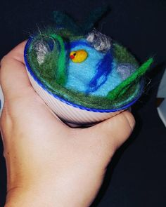 Check out this item in my Etsy shop https://www.etsy.com/uk/listing/565983071/needle-felted-pond-in-a-cup-with