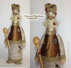 Декор предметов Куклы Шитьё Мои домовята  Ленты Мешковина Ткань фото 1