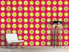 Design #Tapete Sternfrucht Pink