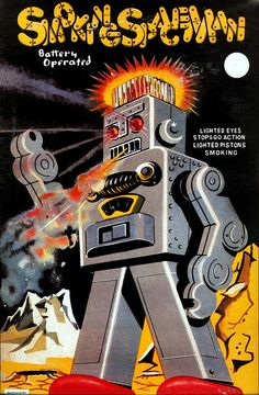 Smoking Spaceman Robot Box  by GALE47, via Flickr