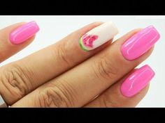 Watermelon nails art Tutorial step by step ❤️ Watermelon Nail Art, Nails Inspiration, Art Tutorials, Art Drawings, Pink, Fashion, Moda, Fashion Styles, Fasion