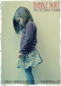 yo elijo coser: Patrón gratis, falda globo niña de 0 a 6 años