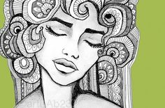 Bohemian Woman by artLAB23 on Etsy