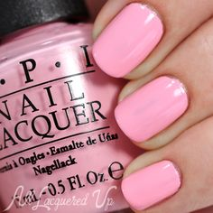 OPI Suzi Shops & Island Hops swatch - Spring 2015 Hawaii via @alllacqueredup OPI Suzi Shops & Island Hops is a baby pink creme. Like Is Mai Tai Crooked? it suffers from STREAKS during application and even after three coats, I couldn't cover the patch in the center of my middle nail.