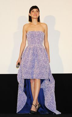 Marion Cotillard in Christian Dior gown with intricate floral pattern 20dbcb5ce
