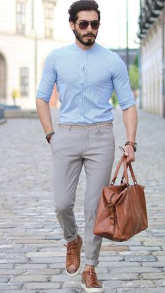 5 Best Shirt And Pant Combinations For Men - Mens Shirts Casual - Ideas of Mens Shirts Casual - 5 Best Shirt And Pant Combinations For Men Formal Dresses For Men, Formal Men Outfit, Formal Shirts For Men, Men Formal, Stylish Mens Outfits, Casual Outfits, Tucked In Shirt Outfit, Traje Casual, Business Casual Men