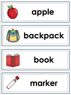 """Write the Room - """"Back to School"""" themed. 12 school words can also be used on your word wall or in your pocket chart!"""