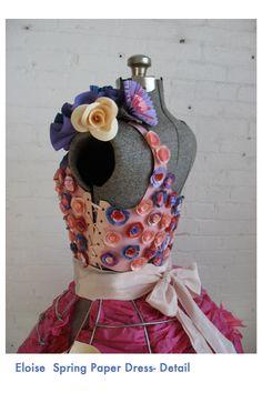 paper flower dress