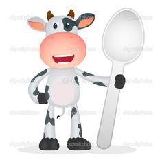 Grappige cartoon koe in verschillende poses — Stockillustratie #7645354