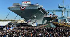 The ceremony was elaborate with hundreds of U.S. Naval members on hand to celebrate the commissioning of the ship