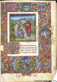 David: rebuked by Nathan | Book of Hours | Italy, probably Milan | ca. 1470 | The Morgan Library & Museum