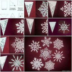 Snowflakes papercut