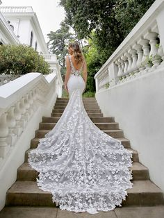 Wedding Dress Malia by Blue by Enzoani - Search our photo gallery for pictures of wedding dresses by Blue by Enzoani. Find the perfect dress with recent Blue by Enzoani photos. Extravagant Wedding Dresses, Sexy Wedding Dresses, Wedding Dress Styles, Bridal Dresses, Crystal Wedding Dresses, Different Color Wedding Dresses, Lace Trumpet Wedding Dress, Klienfeld Wedding Dresses, Most Beautiful Wedding Dresses