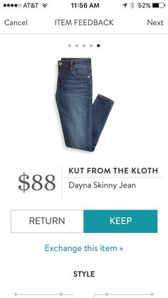 Stitch Fix Kut from the Kloth Dayna Skinny Jean