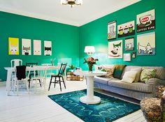 emerald green interior pantone color 2013 scandinavian