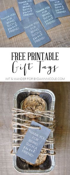 FREE Printable Sweet Friend Gift Tags | Wit and Wander for Dawn Nicole Designs | bydawnnicole.com