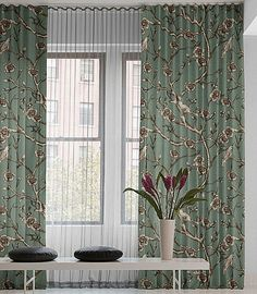 Fascinating Ripple Fold Floral Drapery Ideas