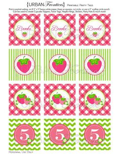 PRINTABLE  Strawberry Birthday Invitation Digital cakepins.com