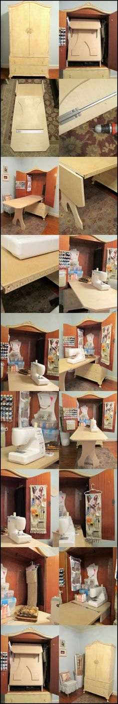DIY Sewing Cabinet #diy #sweing #cabinet #home