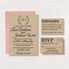 15 Best Diy Wedding Invitations Templates Images Diy Wedding