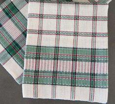 Linge à vaisselle - Les Cercles de Fermières du Québec Weaving Projects, Weaving Patterns, Plaid Scarf, Quilts, Crochet, Recherche Google, Towel, Images, Design