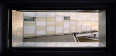 Sopraelevazione palazzina ad uffici per ampliamento sede ILTI Luce, Walter Camagna, Andrea Marcante, Massimiliano Camoletto. © Luigi Gariglio Divider, Room, Furniture, Home Decor, Bedroom, Decoration Home, Room Decor, Rooms, Home Furnishings