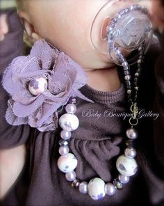 4-1 beaded pacifier holder... Adorable
