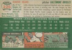 1954 Topps #226 Jehosie Heard Back